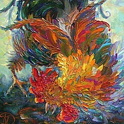 Подарки к праздникам ручной работы. Ярмарка Мастеров - ручная работа картина маслом Забияка петушок. Handmade.