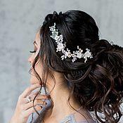 Свадебный салон ручной работы. Ярмарка Мастеров - ручная работа Веточка с бледно розовыми цветочками. Handmade.