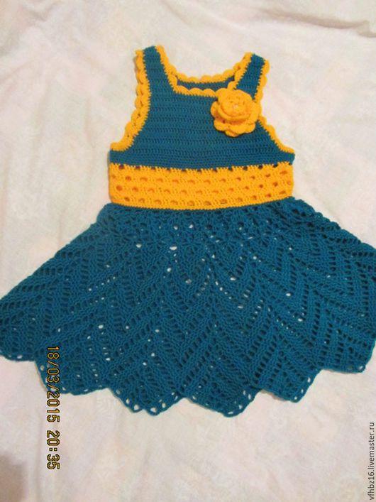 Одежда для девочек, ручной работы. Ярмарка Мастеров - ручная работа. Купить Платье для девочки. Handmade. Морская волна