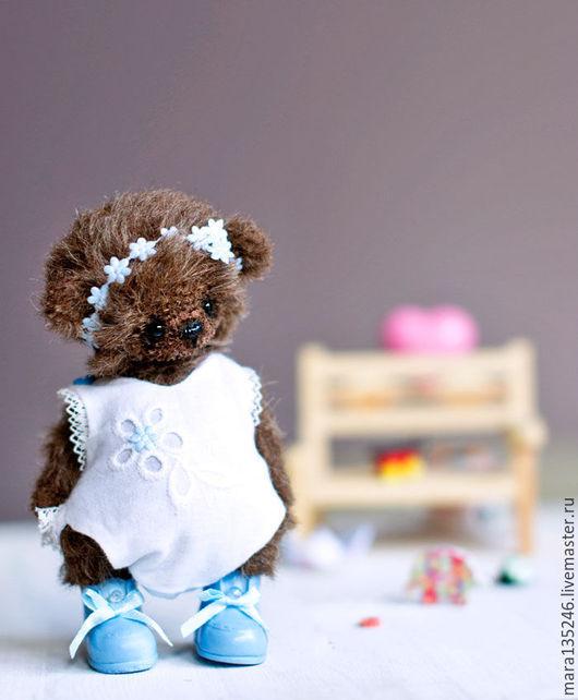 Мишки Тедди ручной работы. Ярмарка Мастеров - ручная работа. Купить Тинки. Handmade. Коричневый, мишка в одежке, теддик