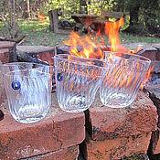 """Сувениры и подарки ручной работы. Ярмарка Мастеров - ручная работа """"На троих и ещё!"""" Весёлый комплект стаканов.. Handmade."""
