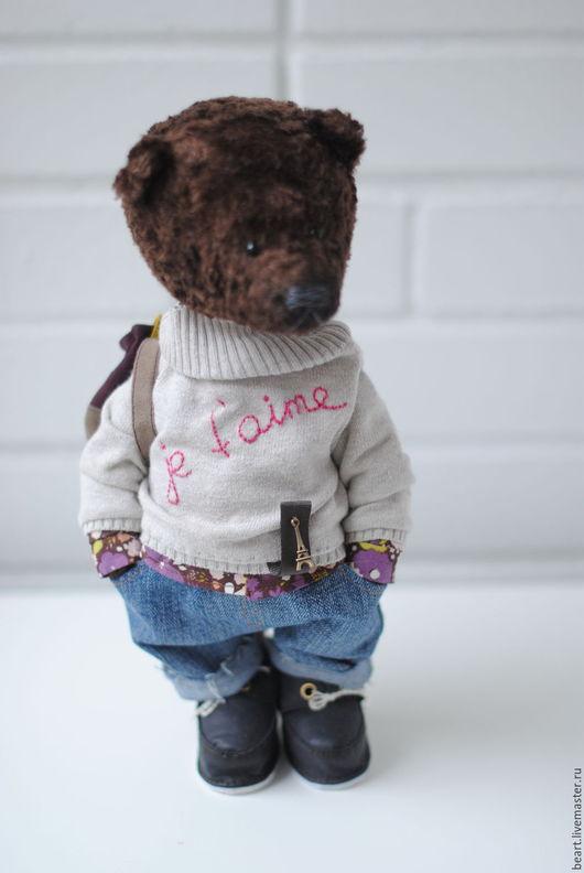 Мишки Тедди ручной работы. Ярмарка Мастеров - ручная работа. Купить Медведь - Жюль. Handmade. Коричневый, авторская ручная работа
