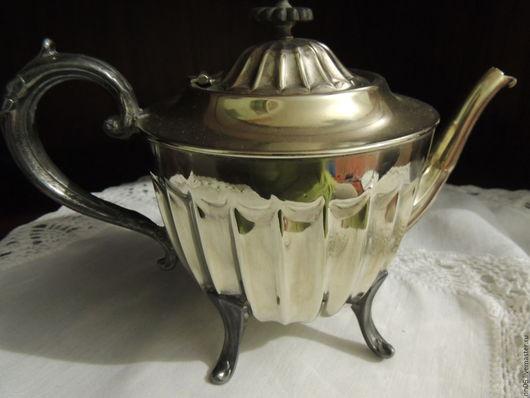 Винтажная посуда. Ярмарка Мастеров - ручная работа. Купить Антикварный чайник SHEFFIELD из Старой  Англии.. Handmade. Серебряный, узор гравировка