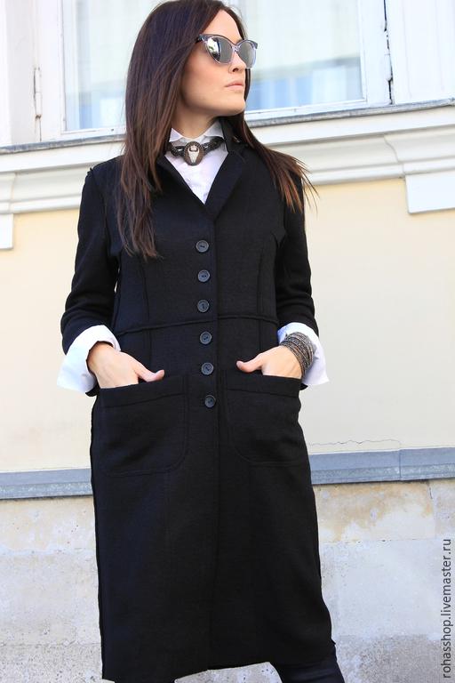 R00034 Элеантное Пальто теплое пальто из шерсти шерстяное пальто женское пальто черное пальто стильное пальто длинное осеннее пальто кардиган из шерсти гранж пальто авторское дизайнерское пальто