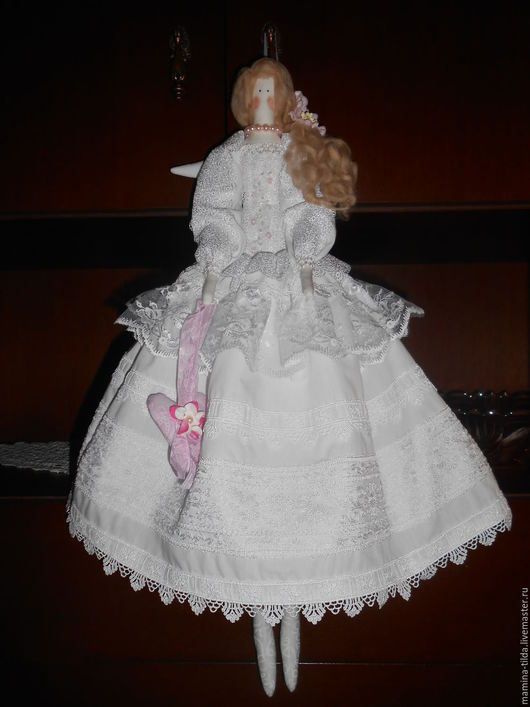 Куклы Тильды ручной работы. Ярмарка Мастеров - ручная работа. Купить Белый ангел- кукла в стиле Тильда. Handmade. Белый