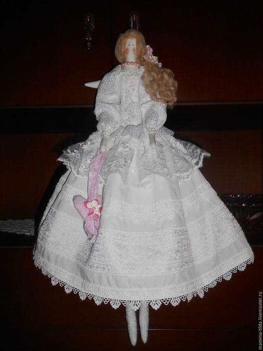 Куклы Тильды ручной работы. Ярмарка Мастеров - ручная работа. Купить Белый ангел. Handmade. Белый, хлопок