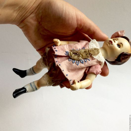 Коллекционные куклы ручной работы. Ярмарка Мастеров - ручная работа. Купить Куколка Болтушка Полинка. Handmade. Бледно-розовый, Ладолл