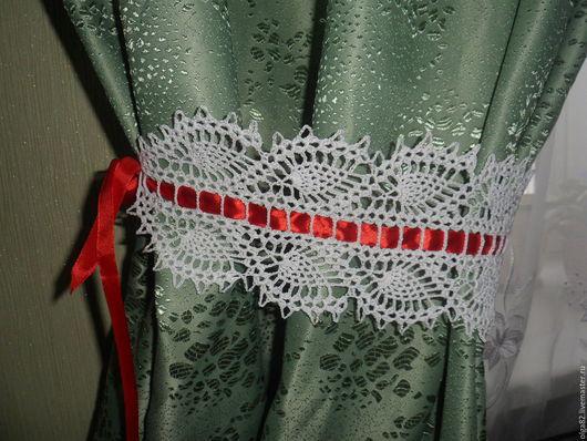 Текстиль, ковры ручной работы. Ярмарка Мастеров - ручная работа. Купить Подхваты для штор ажурные. Handmade. Подхват для штор, прованс