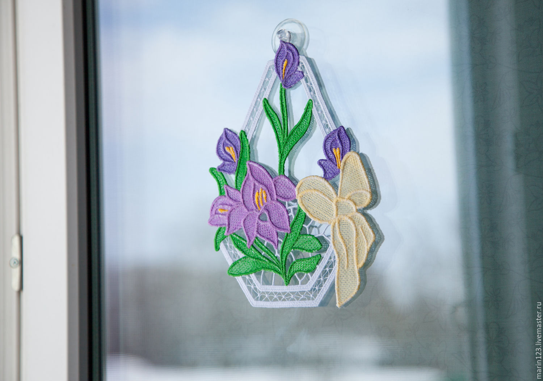 The decoration on the window Irises, Suspension, Samara,  Фото №1