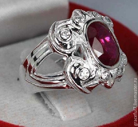 Кольца ручной работы. Ярмарка Мастеров - ручная работа. Купить Кольцо Кларисс рубин. Handmade. Купить кольцо с камнем