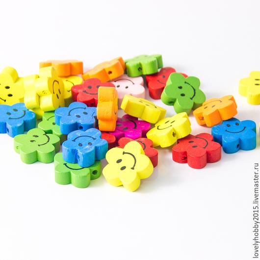 разноцветные ЦВЕТОЧНЫЕ СМАЙЛИКИ (желтые, красные, зеленые, синие, розовые, оранжевые)