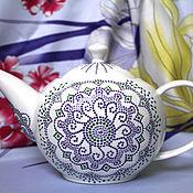 """Посуда ручной работы. Ярмарка Мастеров - ручная работа Заварочный чайник """"Лаванда"""". Серия Чайная посуда. Handmade."""