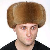 Аксессуары handmade. Livemaster - original item Men`s hat made of Muskrat fur. Handmade.