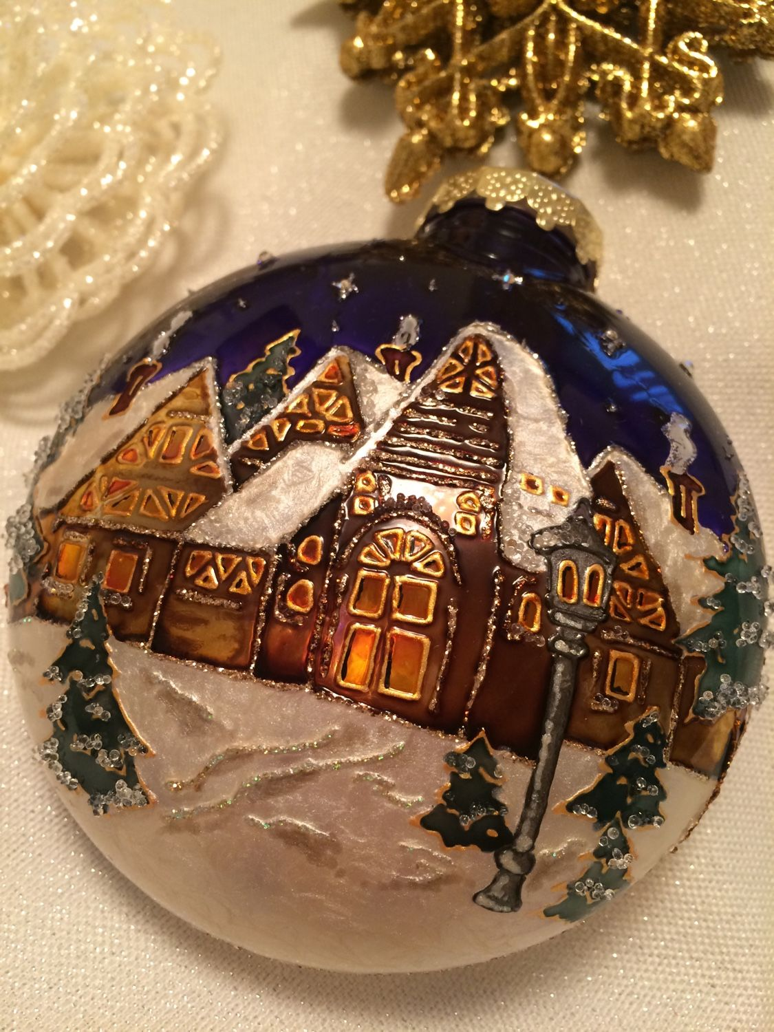 Plastic ball Winter fairy tale, Christmas decorations, Moscow,  Фото №1