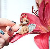 Куклы и игрушки ручной работы. Ярмарка Мастеров - ручная работа Бабочка амигуруми 4 см вязаная игрушка. Handmade.