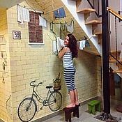 Дизайн и реклама ручной работы. Ярмарка Мастеров - ручная работа Роспись стен - Итальянская улочка:). Handmade.