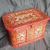 Русский стиль handmade. Livemaster - original item Bast box vintage. Handmade.