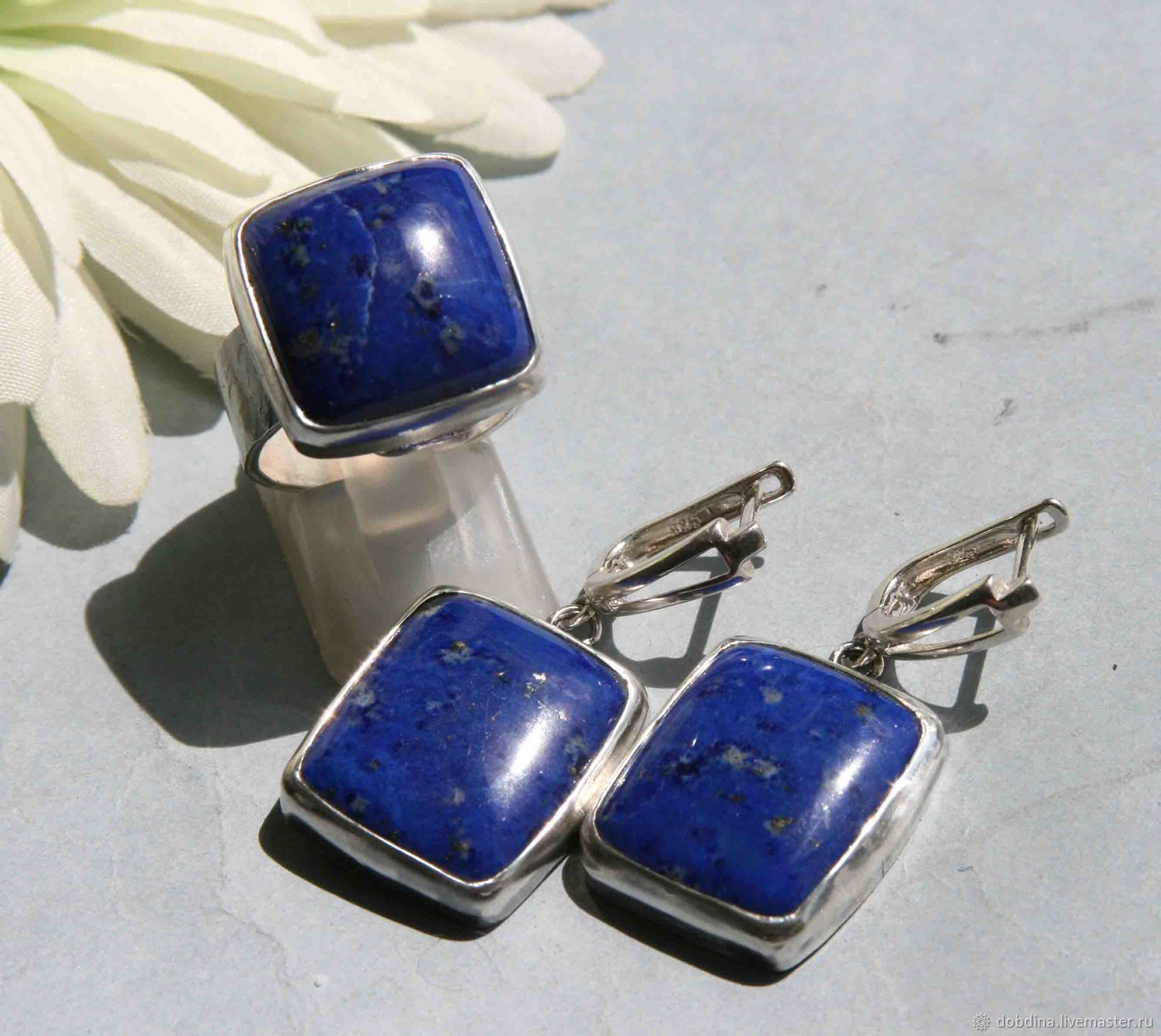 Set with lapis lazuli. Silver, Jewelry Sets, Moscow,  Фото №1
