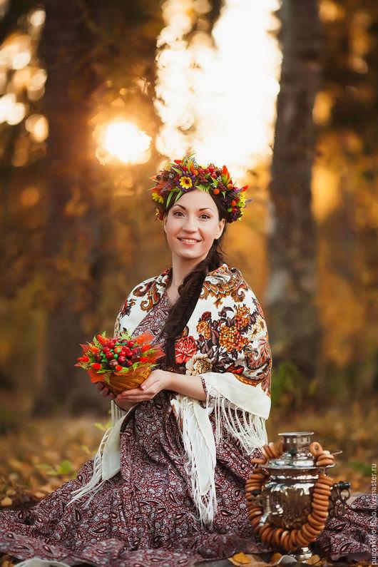 Платья ручной работы. Ярмарка Мастеров - ручная работа. Купить Первая осень для троих.... Handmade. Пейсли, осенние листья