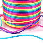 Материалы для творчества ручной работы. Ярмарка Мастеров - ручная работа Шнур сатиновый разноцветный. Handmade.