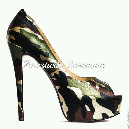 """Обувь ручной работы. Ярмарка Мастеров - ручная работа. Купить Туфли """" Милитари"""". Handmade. Милитари, женские туфли"""