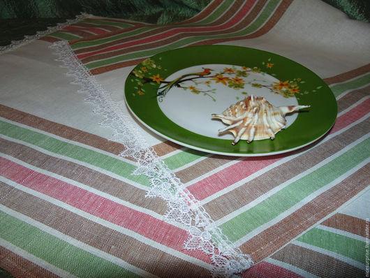 """Кухня ручной работы. Ярмарка Мастеров - ручная работа. Купить Полотенце для кухни """" Романтичные полоски"""". Handmade. Белый"""