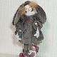 """Коллекционные куклы ручной работы. Ярмарка Мастеров - ручная работа. Купить """"Зайчуля"""". Handmade. Кукла, авторская ручная работа, шерсть"""