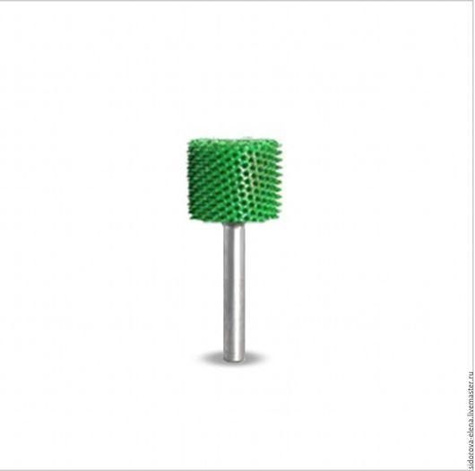 Другие виды рукоделия ручной работы. Ярмарка Мастеров - ручная работа. Купить Сабурр цилиндр  зеленый с гладким торцем. Handmade.