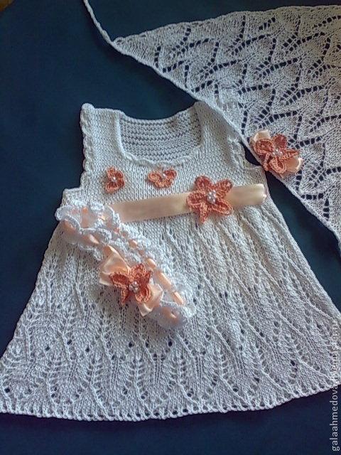 детское платье ручной работы, вязаное платье, для девочки, нарядное платье,для малышки, сарафан для девочки, ажурный сарафан, купить детское платье, в подарок, комплект для девочки, нарядный комплект,
