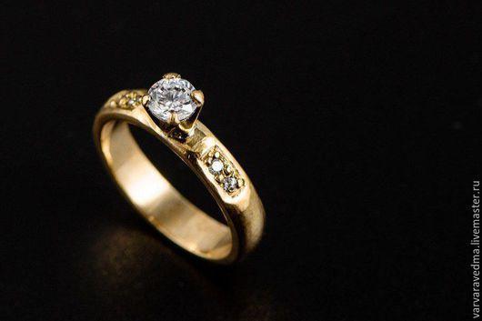 """Кольца ручной работы. Ярмарка Мастеров - ручная работа. Купить Кольцо """"Принцесса"""". Handmade. Золотой, принцесса, блеск, латунь"""