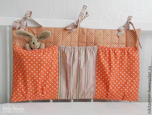 Детская ручной работы. Ярмарка Мастеров - ручная работа. Купить кармашки на кроватку. Handmade. Карманы, кармашки для мелочей, текстиль для детской