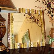 """Для дома и интерьера ручной работы. Ярмарка Мастеров - ручная работа Настенное зеркало """"Арт-Деко"""" (мозаика). Handmade."""