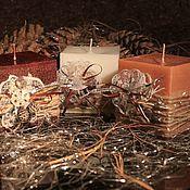 """Подарки к праздникам ручной работы. Ярмарка Мастеров - ручная работа Новогодние свечи """"Все в шоколаде"""". Handmade."""