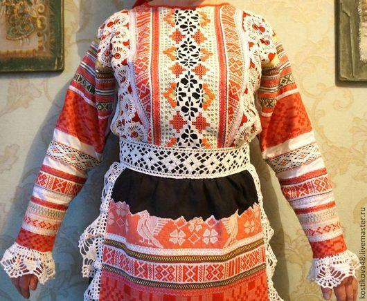 Одежда ручной работы. Ярмарка Мастеров - ручная работа. Купить Из сундучка бабушки.... Handmade. Русский костюм, бязь
