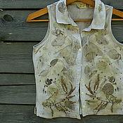 """Одежда ручной работы. Ярмарка Мастеров - ручная работа Безрукавка """"Горожанка мечтает"""" , эко принт. Handmade."""