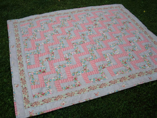 Текстиль, ковры ручной работы. Ярмарка Мастеров - ручная работа. Купить Цветочный зигзаг. Handmade. Пастельные тона, лоскутное покрывало