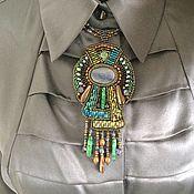Украшения handmade. Livemaster - original item pendant with kyanite, malachite, turquoise, pearls. Handmade.