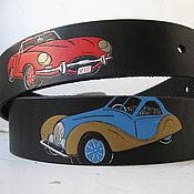 Аксессуары handmade. Livemaster - original item strap leather JAGUARS. Handmade.