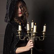 """Одежда ручной работы. Ярмарка Мастеров - ручная работа """"Леди"""" накидка чёрная велюровая. Handmade."""