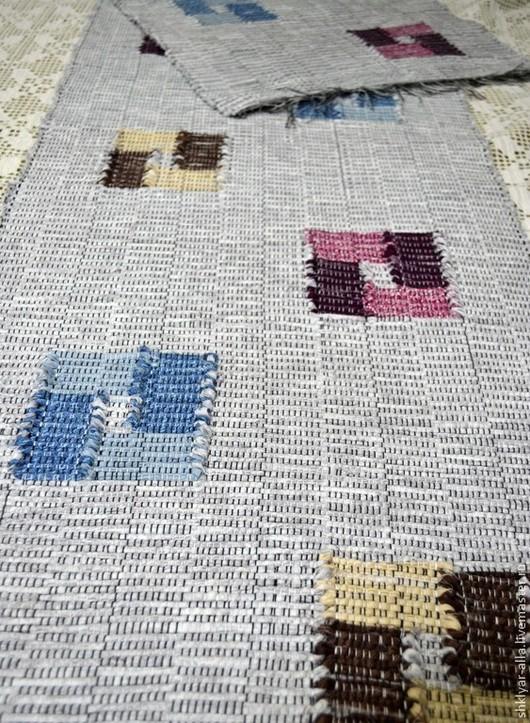 Текстиль, ковры ручной работы. Ярмарка Мастеров - ручная работа. Купить Половик ручного ткачества(№37). Handmade. Серый, Ткачество, дорожка