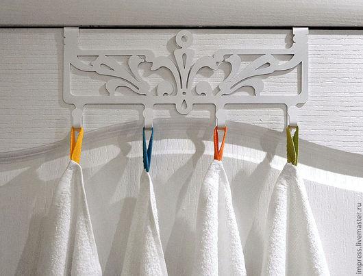 Ванная комната ручной работы. Ярмарка Мастеров - ручная работа. Купить вешалка перекидная Виктория. Handmade. Белый, Вешалка для полотенец
