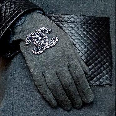 Accessories handmade. Livemaster - original item Chanel gloves grey. Handmade.