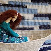 Куклы и игрушки ручной работы. Ярмарка Мастеров - ручная работа В море текстильная кукла. Handmade.
