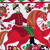 Картины и панно handmade. Livemaster - original item Embroidery.Panel.Based on the Russian painting.. Handmade.
