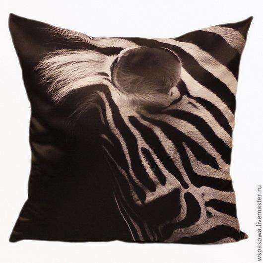 Текстиль, ковры ручной работы. Ярмарка Мастеров - ручная работа. Купить Подушка Зебрано. Handmade. Чёрно-белый, зебры, подушка
