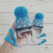 Куклы и игрушки handmade. Livemaster - original item Hat for dolls.Gray-blue. The girth of the doll`s head 18 - 20 cm.. Handmade.