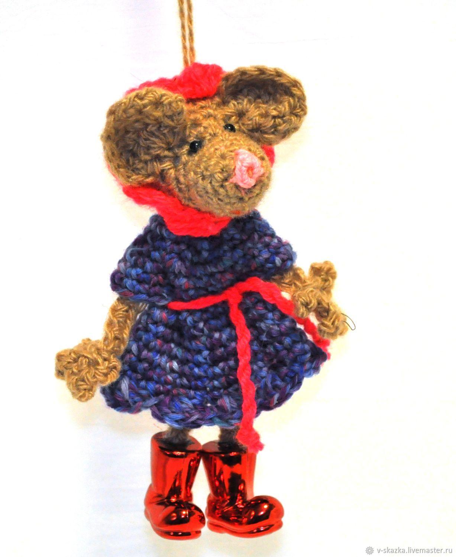 Мышь на подвесе, Мягкие игрушки, Великий Новгород,  Фото №1