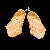 Русский стиль handmade. Livemaster - original item Sandals of birch bark gift. A souvenir from Russia a foreigner for good luck. Handmade.