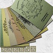 Дизайн и реклама ручной работы. Ярмарка Мастеров - ручная работа Визитка на цветном крафт картоне.. Handmade.