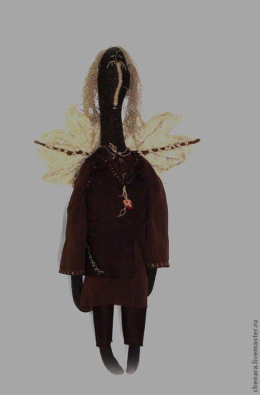 Сказочные персонажи ручной работы. Ярмарка Мастеров - ручная работа. Купить Ангел... Седой. Handmade. Коричневый, авторская игрушка, щифон